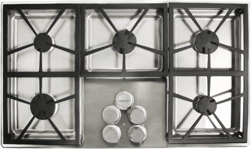 Dacor DTCT365GSLPH - 5 Burner Gas Cooktop in Stainless Steel