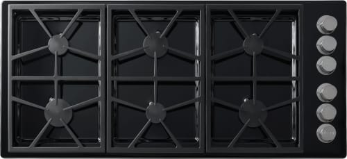 Dacor Distinctive DTCT466GBNGH - 6 Burner Gas Cooktop in Black