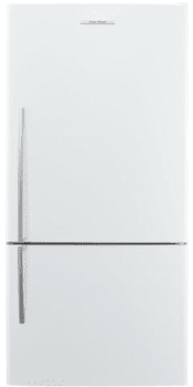 Fisher & Paykel Active Smart E522BRE5 - 17.6 cu. ft. Counter Depth Bottom Freezer in White with Right-Hinge Door Swing