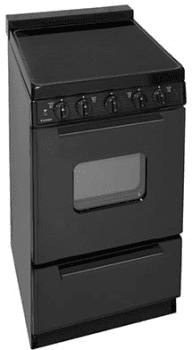 "Premier EAS2X0BP - 20"" Smoothtop Electric Range in Black"