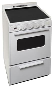 "Premier ECS2X0OP - 24"" Smoothtop Electric Range in White"
