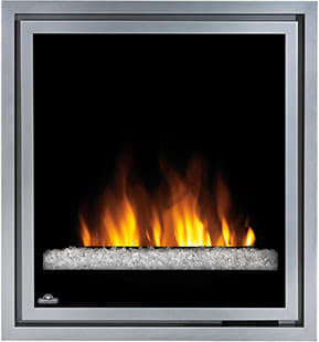 "Napoleon Tranquille Series EF30G - Tranquille 30"" Electric Fireplace with Glass Crystal Ember Bed"