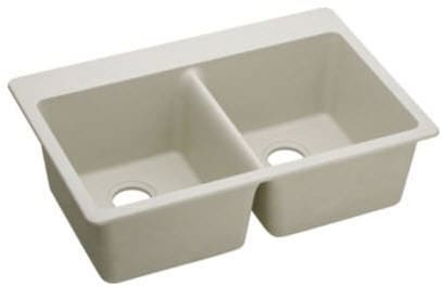 Elkay Gourmet E-Granite Collection ELG3322BQ - Bisque Angle View