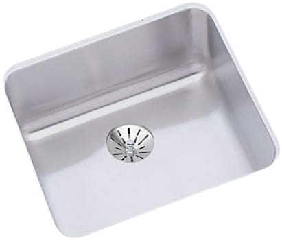 "Elkay Gourmet Lustertone Collection ELUH1212PD - 14"" x 14"" Undermount Stainless Steel Sink with Lustrous Highlighted Satin Finish"