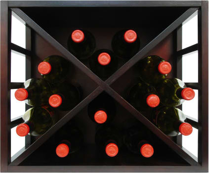 "Vinotemp Epicureanist Series EPSTACKDIA - 20"" Stackable Diamond Wine Rack with 15 Bottle Capacity"