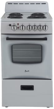 Avanti ER20P0WG - Freestanding Electric Range with 4 Burners and 2.1 Cu. Ft. Capacity