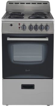 Avanti ER20P3SG - Freestanding Electric Range with 4 Burners and 2.1 Cu. Ft. Capacity