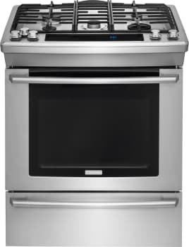 "Electrolux Wave-Touch Series EW30DS80RS - 30"" Dual Fuel Slide-in Range"