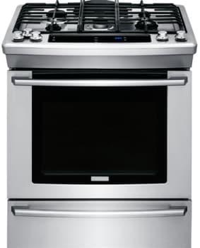 "Electrolux Wave-Touch Series EW30GS80RS - 30"" Gas Slide-in Range with Wave-Touch Electronic Controls"