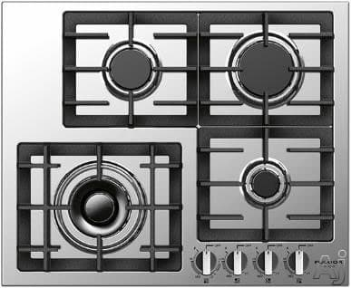 "Fulgor Milano 400 Series F4GK24S1 - 24"" Largo Gas Cooktop"