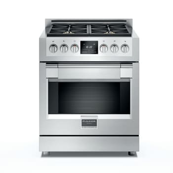 "Fulgor Milano Sofia Series F6PDF304S1 - 30"" Dual Fuel Sofia Range with 4 Burners and 4.1 cu. ft. Convection Oven"