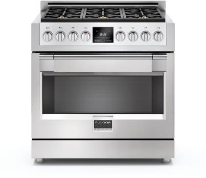 "Fulgor Milano Sofia Series F6PDF366S1 - 36"" Dual Fuel Sofia Range with 6 Burners and 5.2 cu. ft. Convection Oven"