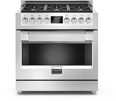 "Fulgor Milano Sofia Series F6PGR366S1 - 36"" Gas Sofia Range with 6 Burners and 5.2 cu. ft. Convection Oven"