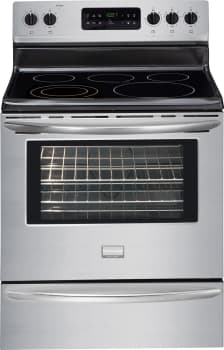 """Frigidaire Gallery Series DGEF3031K - 30"""" Freestanding Electric Range with 5 Smoothtop Burners and 5.4 cu. ft. Self-Cleaning Oven"""