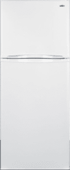 "Summit FF1375WIM - 24"" Top Freezer Refrigerator in White"
