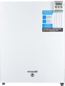 "AccuCold FF28LWHVAC - 19"" Compact Refrigerator for Vaccines with Thermometer, Lock, Internal Fan with Gel Packs, Temperature Alarm with External Read-out, Hospital Grade Cord, and Factory-Installed Precision Digital Thermostat"
