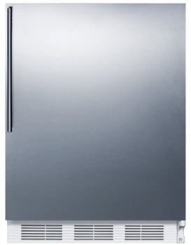 "Summit FF61BISSHVADA - 24"" Undercounter 5.5 cu. ft. All-Refrigerator with Stainless Steel Door and Pro Handle"