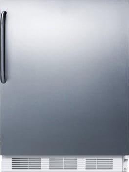 "Summit FF61SSTB - 24"" Compact Refrigerator with Stainless Steel Door and Towel Bar Handle"