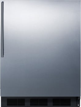 "Summit FF63BSSHV - 24"" Freestanding Undercounter Refrigerator with Professional Handle"