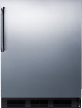"Summit FF63BBISSTBADA - 24"" Undercounter Refrigerator with Towel Bar Handle"