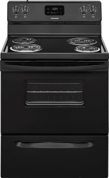 Frigidaire FFEF3012TB - Black Front View