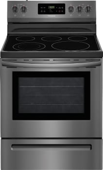 Frigidaire FFEF3054TD - Black Stainless Front View
