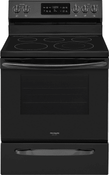 Frigidaire Gallery Series FGEF3036TB - Black Front View