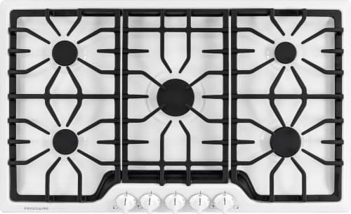 "Frigidaire Gallery Series FGGC3645QW - 36"" Built-In Gas Cooktop in White"