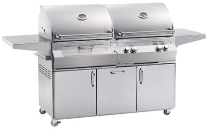 Fire Magic Aurora Collection A830S6LAN61CB - Aurora Series Combination Gas and Charcoal Grill