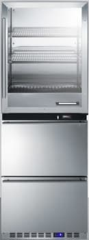 Summit FRBW52D - Freestanding combination freezer and warming cabinet offers 7.4 total capacity