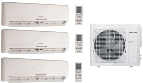 Frigidaire Frig245 3 Room Mini Split System With 28 000 Btu Multi Zone Mini Split Outdoor Air Conditioner 28 400 Btu Heat Pump Inverter Technology Low Ambient Operation Quick Cool And Warm 3 Fan Speeds
