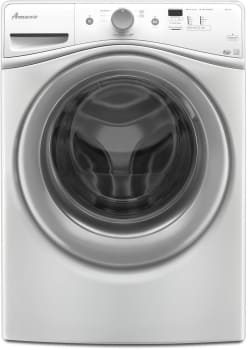 Amana Nfw5800dw 27 Inch Front Load Washer With 4 2 Capacity 7 Wash Cycles Efficiency Monitor Spin Speed Delay Wash And Detergent Dispenser