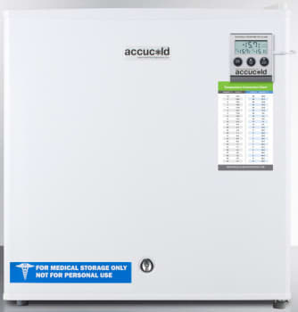 AccuCold FS24LMED - White with Alarm, Temperature Display, Hospital Grade Cord