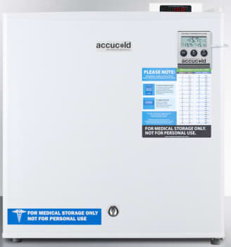 AccuCold FS24LMEDDT - White with Alarm, Digital Thermostat, Hospital Grade Cord