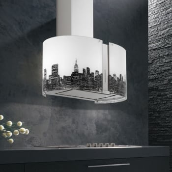 Futuro Futuro Murano Metro Collection IS27MURMETROLED - Murano Metro Island Hood from Futuro Futuro