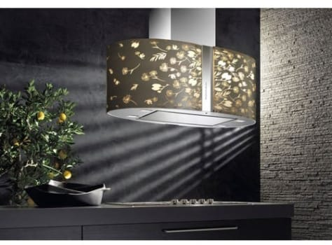 Futuro Futuro Murano Moonlight Collection IS34MURMOONLIGHTLED - Murano Moonlight LED Island Hood