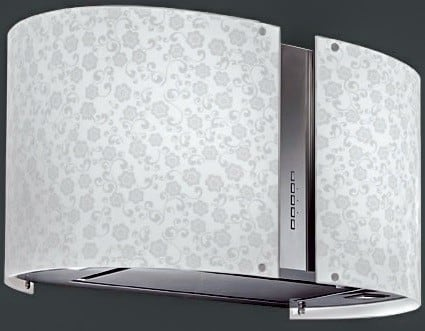 Futuro Futuro WL27MURMAYFLOWERLED - 27 Inch Murano Mayflower LED Wall Hood