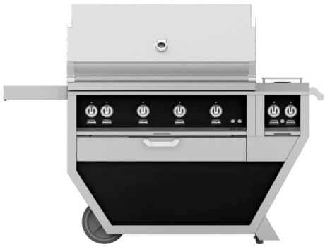 Hestan GMBR42CX2BK - Deluxe Grill with Side Burner