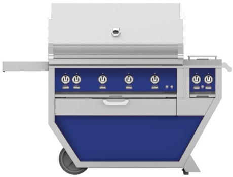 Hestan GMBR42CX2BU - Deluxe Grill with Side Burner