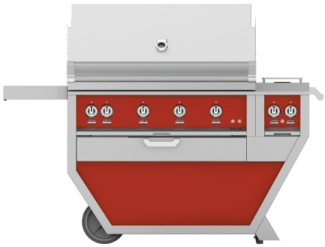 Hestan GMBR42CX2RD - Deluxe Grill with Side Burner