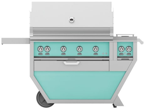 Hestan GMBR42CX2TQ - Deluxe Grill with Side Burner