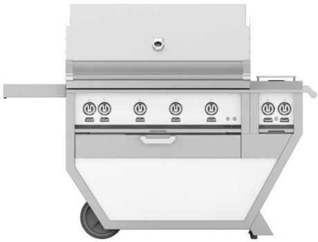 Hestan GABR42CX2WH - Deluxe Grill with Side Burner