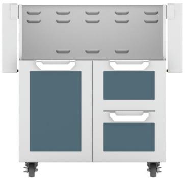 Hestan GCR30DG - Double Drawer and Door Cart