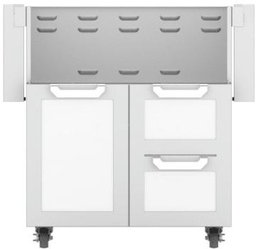 Hestan GCR30WH - Double Drawer and Door Cart