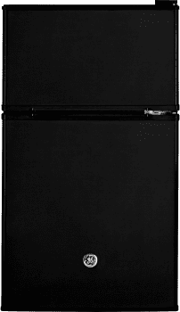 "GE GDE03GGKBB - 19"" Top Freezer Compact Refrigerator in Black"