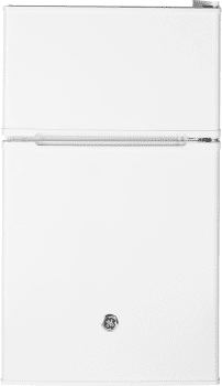 "GE GDE03GGKWW - 19"" Top Freezer Compact Refrigerator in White"