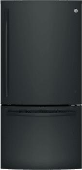 GE GDE25EGKBB - Black freestanding refrigerator from GE