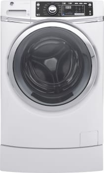 GE RightHeight Design Series GFW490RSKWW - GE Front-Load Washer with Built-In RightHeight Pedestal
