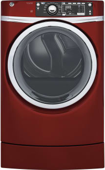 GE RightHeight Design Series GFD49GRPKRR - GE RightHeight Dryer in Red