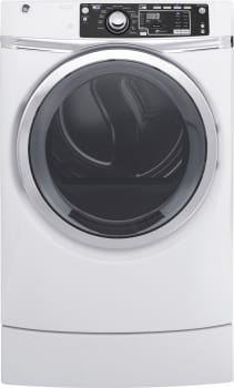 GE RightHeight Design Series GFD49ERSKWW - GE RightHeight Dryer in White